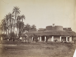 Lahore - Old bungalow, old Library & Museum in distance.